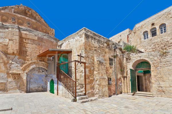 Courtyard of Coptic Orthodox Church in Jerusalem. Stock photo © rglinsky77