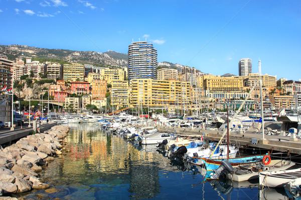 марина Монако мнение лодках жилой зданий Сток-фото © rglinsky77