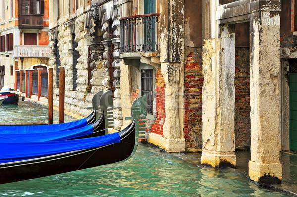 Antigo edifício Veneza Itália canal velho típico Foto stock © rglinsky77
