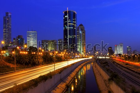 Night view on Tel Aviv. Stock photo © rglinsky77