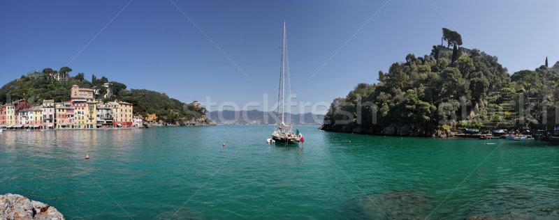 Сток-фото: Панорама · панорамный · мнение · морем · Италия