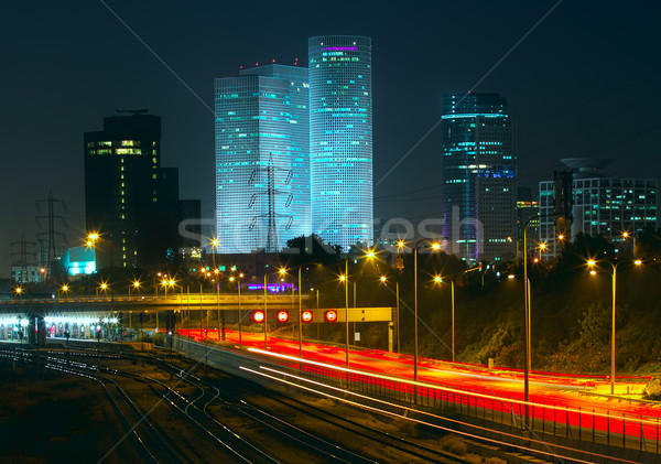 Night view of Tel Aviv, Israel. Stock photo © rglinsky77