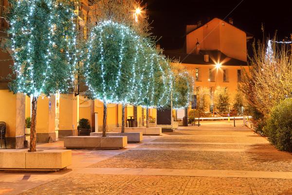 Ağaçlar İtalya Noel tatil Stok fotoğraf © rglinsky77