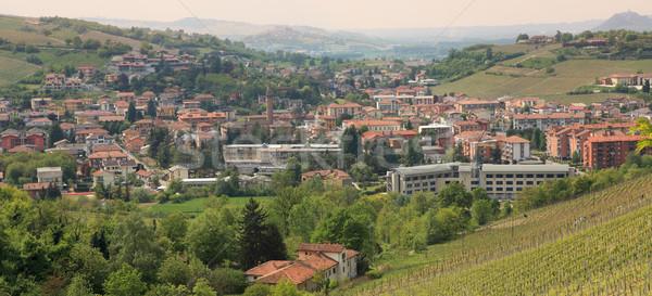 Panoramic view on town of Alba. Stock photo © rglinsky77