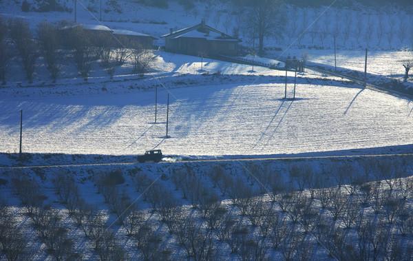 Snowy hills of Piedmont. Stock photo © rglinsky77