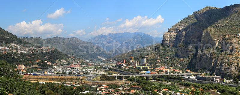 Ventimiglia panoramic view. Liguria, Italy. Stock photo © rglinsky77