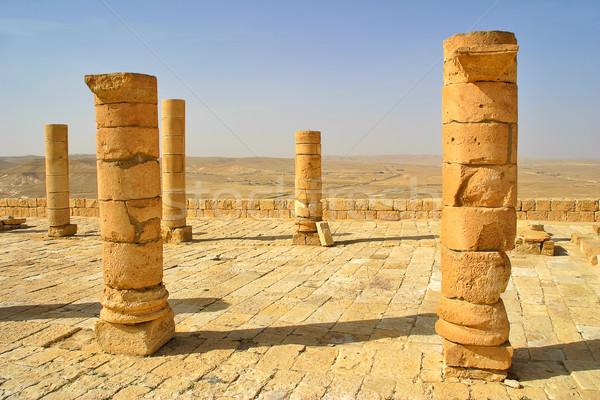 Ruins of town of Avdat in Israel. Stock photo © rglinsky77