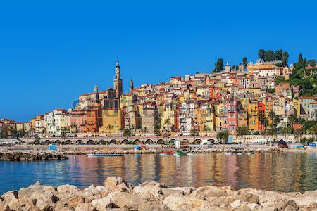 Multicolored houses of Menton, France. Stock photo © rglinsky77