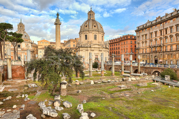Coluna igreja ver antigo Roma Foto stock © rglinsky77