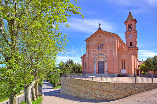 Church on town square in Piedmont, Italy. Stock photo © rglinsky77