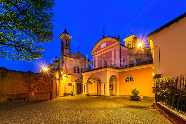 Gece küçük kasaba kare iki Stok fotoğraf © rglinsky77