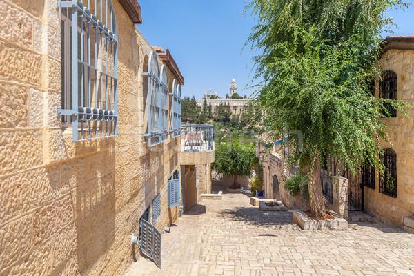 Kudüs sokak evler İsrail seyahat Stok fotoğraf © rglinsky77
