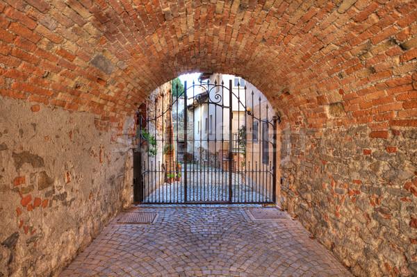 Edad pasaje Italia ladrillo Foto stock © rglinsky77
