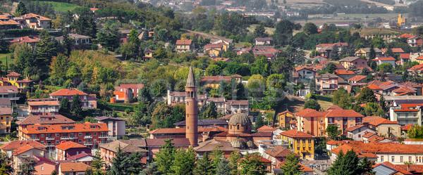 Kasaba İtalya görmek çan kule evler Stok fotoğraf © rglinsky77