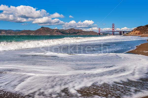 Vagues Baker plage San Francisco USA blanche Photo stock © rglinsky77