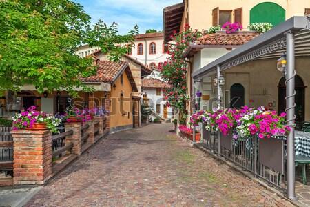Dar sokak kasaba eski evler Stok fotoğraf © rglinsky77