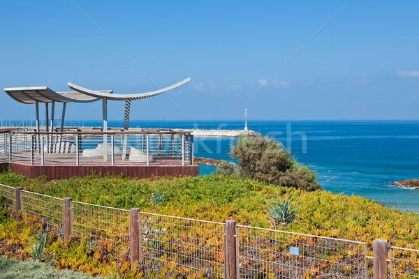 Passeio público mediterrânico mar cerca férias Foto stock © rglinsky77