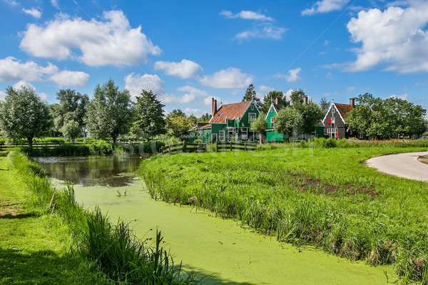 Pequeno enseada rural casas Holanda Foto stock © rglinsky77