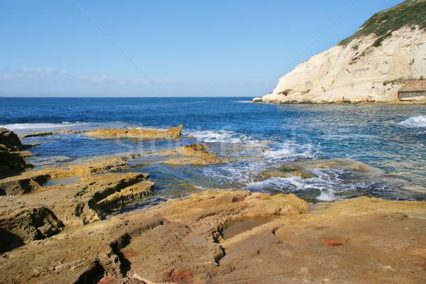 リザーブ イスラエル 岩 白 チョーク 崖 ストックフォト © rglinsky77