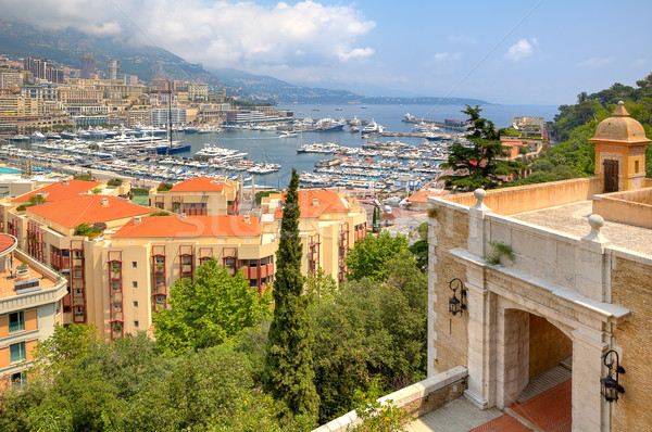 Ancient fortification and view of Monte Carlo. Stock photo © rglinsky77