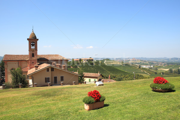 Small town of Grinzane Cavour, Italy. Stock photo © rglinsky77