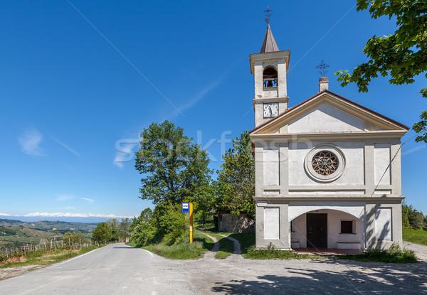 Kapel kant van de weg Italië witte een Stockfoto © rglinsky77