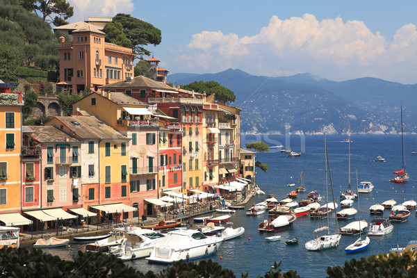 Görmek İtalya ünlü kasaba küçük tok Stok fotoğraf © rglinsky77