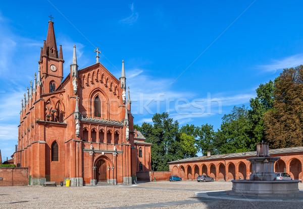 Церкви Италия Готский красный кирпичных небольшой Сток-фото © rglinsky77