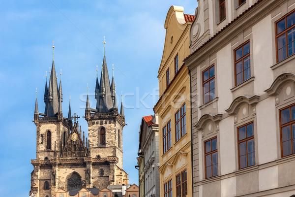 архитектура Прага типичный Церкви Lady Чешская республика Сток-фото © rglinsky77