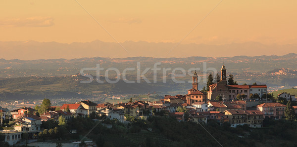 Town on the hill. Piedmont, Italy. Stock photo © rglinsky77