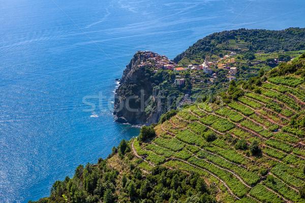 Akdeniz deniz İtalya küçük köy uçurum Stok fotoğraf © rglinsky77