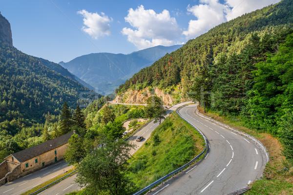 表示 高山 道路 フランス 狭い 国境 ストックフォト © rglinsky77