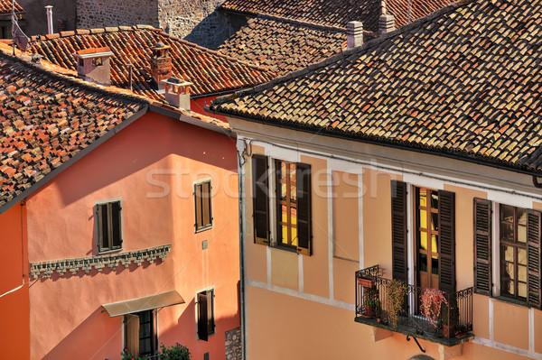 İtalyan evler İtalya tipik kiremitli çatılar Stok fotoğraf © rglinsky77
