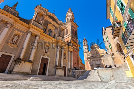 Fragment of basilica in Menton, France. Stock photo © rglinsky77