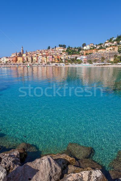 Város mediterrán tenger turistaövezet kisváros Franciaország Stock fotó © rglinsky77