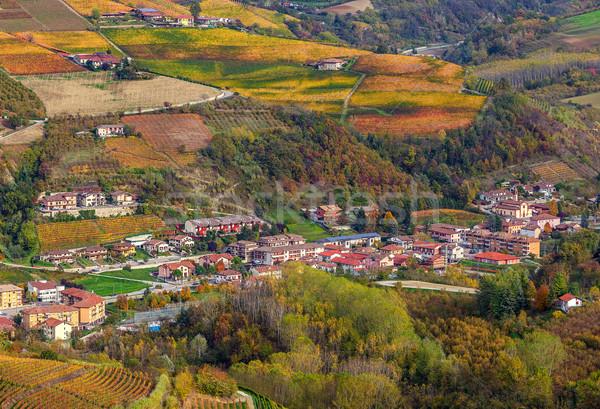 Piccola città colline Italia settentrionale Foto d'archivio © rglinsky77