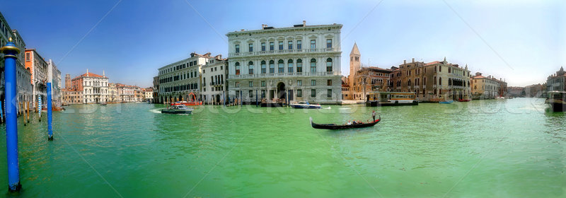Panoramic view on famous Grand Canal. Stock photo © rglinsky77