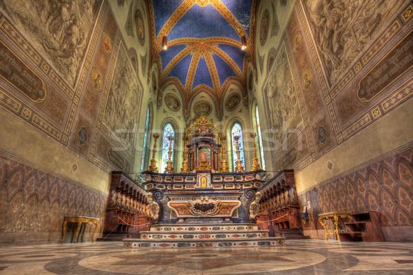 Catedral interior altar iglesia dios oración Foto stock © rglinsky77