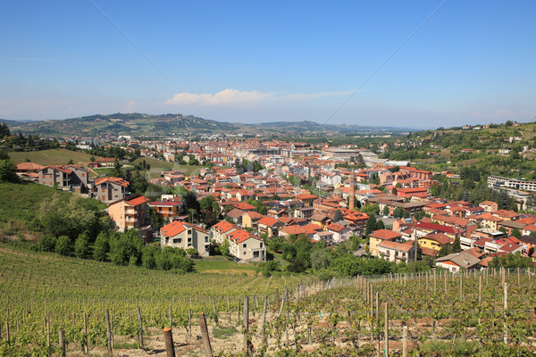 Itália cidade vinha colina norte Foto stock © rglinsky77