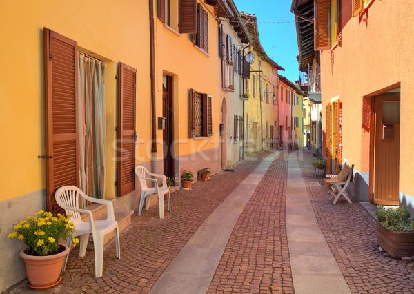 узкий улице красочный домах Италия Сток-фото © rglinsky77