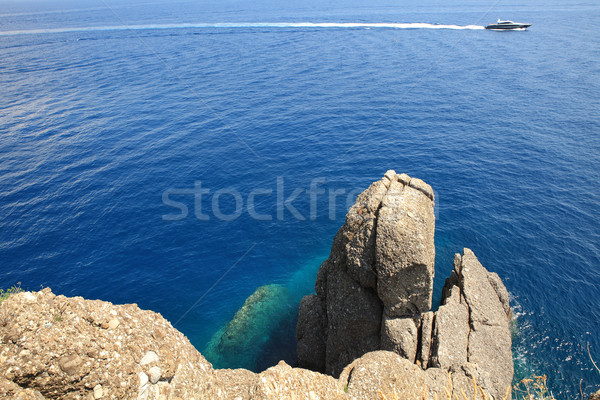 Lancha rochas mar norte Itália natureza Foto stock © rglinsky77