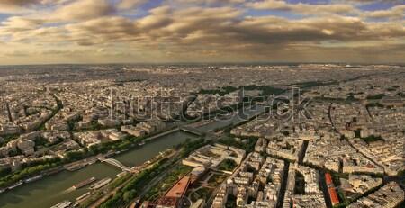 Panorâmico Paris rio Torre Eiffel cidade Foto stock © rglinsky77