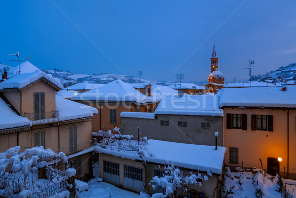 Houses covered with snow. Stock photo © rglinsky77