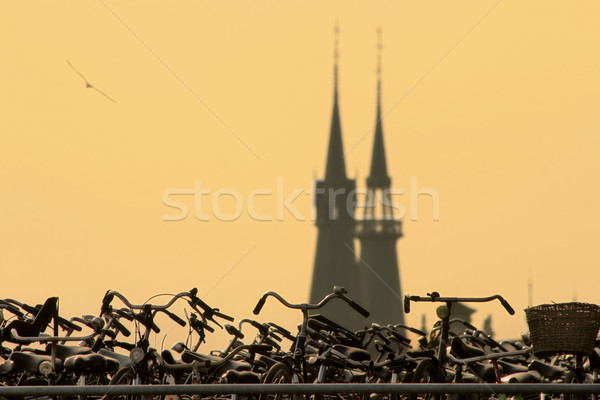 Estacionamento velho igreja Amsterdam Holanda Foto stock © rglinsky77