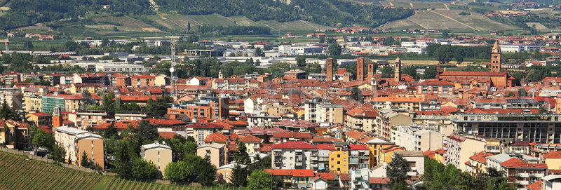Aerial view on Alba. Piedmont, Italy. Stock photo © rglinsky77