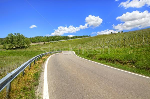 Yol tepeler İtalya yeşil güzel mavi gökyüzü Stok fotoğraf © rglinsky77