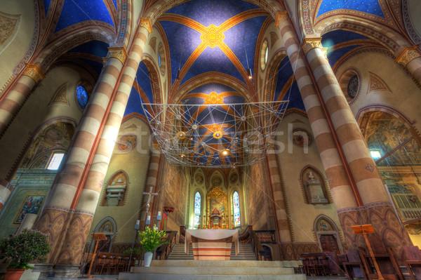 Katedral iç görmek kilise Tanrı dua Stok fotoğraf © rglinsky77