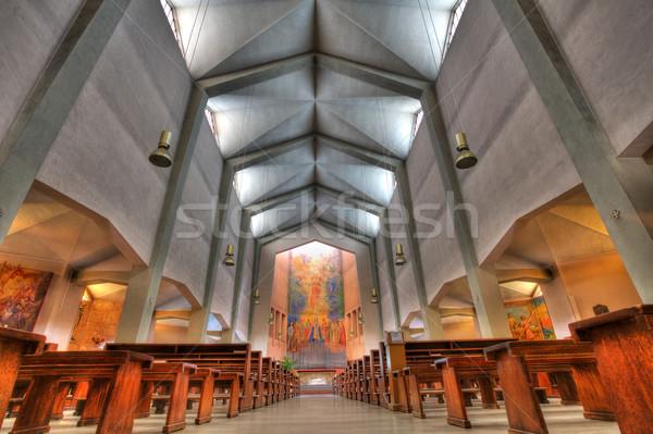 Cristo Re church interior in Alba, Italy. Stock photo © rglinsky77