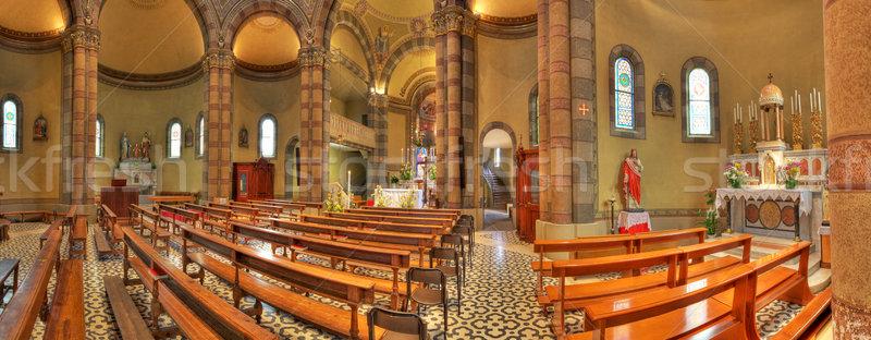 Catholique église intérieur vue Italie panoramique Photo stock © rglinsky77