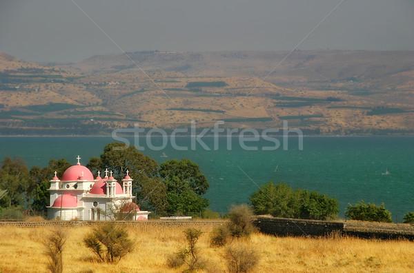 Griego ortodoxo monasterio famoso mar Foto stock © rglinsky77